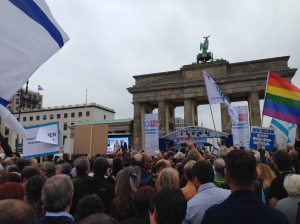 My view during the rally in Berlin